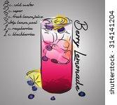 blueberry lemonade with color... | Shutterstock .eps vector #314141204