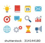 set of business icons. simple... | Shutterstock .eps vector #314144180