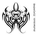 turtle tattoo shape | Shutterstock .eps vector #314144948