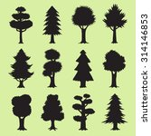 tree silhouettes collection | Shutterstock .eps vector #314146853