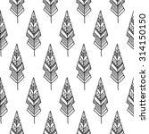 seamless freather ornamental... | Shutterstock .eps vector #314150150