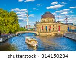 Stock photo beautiful view of unesco world heritage site museumsinsel museum island with excursion boat on 314150234