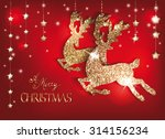 greeting card with gold shiny... | Shutterstock .eps vector #314156234