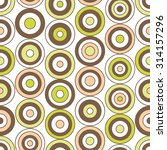 circle seamless pattern on... | Shutterstock .eps vector #314157296