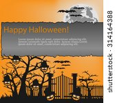 halloween vector illustration... | Shutterstock .eps vector #314164388