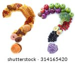 unhealthy healthy diet choices | Shutterstock . vector #314165420
