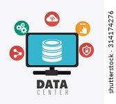 database digital design  vector ... | Shutterstock .eps vector #314174276