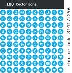 doctor 100 icons universal set... | Shutterstock . vector #314175296