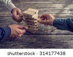 three businessmen hands playing ... | Shutterstock . vector #314177438