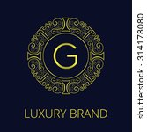 luxury vintage monogram for... | Shutterstock .eps vector #314178080