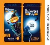 ticket halloween party | Shutterstock .eps vector #314178839