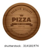 realistic empty round wooden... | Shutterstock .eps vector #314181974