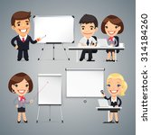 peoples gives a presentation or ... | Shutterstock .eps vector #314184260