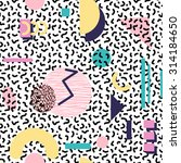 seamless geometric vintage... | Shutterstock .eps vector #314184650