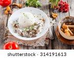 beef stroganoff with mushrooms...   Shutterstock . vector #314191613