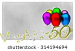 birthday concept with colorful... | Shutterstock . vector #314194694