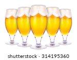 frosty glasses of light beer... | Shutterstock . vector #314195360