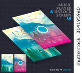 music player   unlock screen...