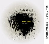 ink splat overlayed by halftone ... | Shutterstock .eps vector #31419745
