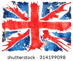 hand drawn sketch   the flag of ... | Shutterstock . vector #314199098
