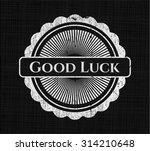 good luck chalkboard emblem on...