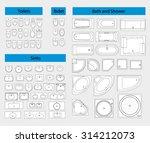 bathroom furniture. sanitary... | Shutterstock .eps vector #314212073