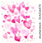 hand drawn pink watercolor... | Shutterstock . vector #314216474
