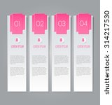 web banner template with number ... | Shutterstock .eps vector #314217530