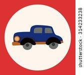 transportation car flat icon... | Shutterstock .eps vector #314233238