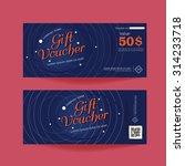 gift voucher template | Shutterstock .eps vector #314233718