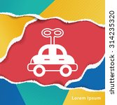baby toy car icon