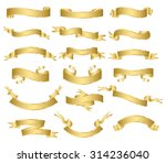 set of gold ribbons.vector | Shutterstock .eps vector #314236040