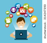 social media design  vector... | Shutterstock .eps vector #314247350