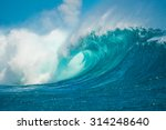 Breaking Wave In Mauritius