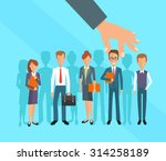 business hand picking up a... | Shutterstock .eps vector #314258189