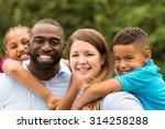 beautiful diverse family | Shutterstock . vector #314258288