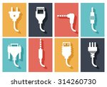 electric plug flat icons | Shutterstock . vector #314260730