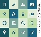 social media icons universal... | Shutterstock .eps vector #314270684