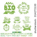 organic bio ecology natural... | Shutterstock .eps vector #314272133
