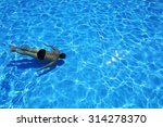 isolated azure water pool and... | Shutterstock . vector #314278370
