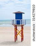 Lifeguard Tower On The Beach ...