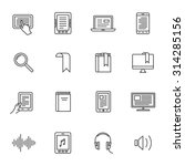 electronic and audio book icons.... | Shutterstock .eps vector #314285156