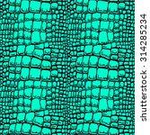 Seamless Pattern Of Crocodile...