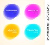 set of colorful circular