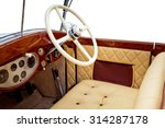 Luxury Retro Car Interior...