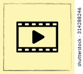 video sign icon  vector... | Shutterstock .eps vector #314288246
