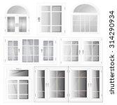 closed plastic window set ... | Shutterstock .eps vector #314290934