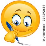 emoticon writing | Shutterstock .eps vector #314292659