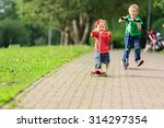 little boy and toddler girl... | Shutterstock . vector #314297354
