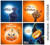 halloween banners | Shutterstock .eps vector #314301068